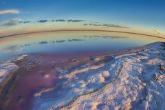 Laguna de la sal, La Pampa, imagen de archivo libre de regalías