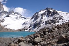 The Laguna de Los Tres, Argentina Royalty Free Stock Photos