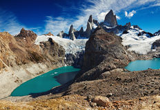 Laguna de Los Tres and Laguna Sucia Royalty Free Stock Photography