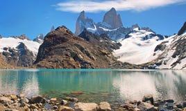Laguna de Los Tres mit Mt Fitz Roy Lizenzfreie Stockbilder