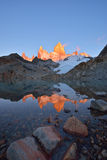 Laguna de Los Tres and mount Fitz Roy at sunrise Stock Image