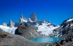 Laguna de Los Tres und Berg Fitz Roy Lizenzfreies Stockfoto
