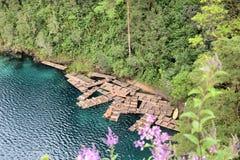 Laguna de Montebello. Image of Lagunas de Montebello at Chiapas Mexico Stock Photo