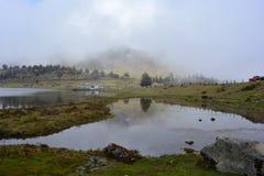 Laguna de Mucubaji湖在梅里达,委内瑞拉 免版税库存照片