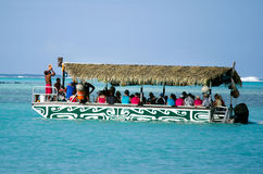 Laguna de Muri en el cocinero Islands de Rarotonga Imagenes de archivo