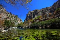 Laguna de Preveli Imagen de archivo