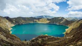 Laguna de Quilatoa Imagen de archivo
