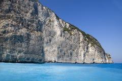 Laguna del agua azul Fotos de archivo libres de regalías