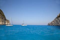 Laguna del agua azul Imagen de archivo libre de regalías