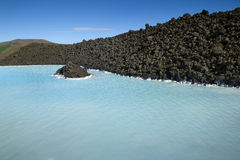 Laguna del azul de Islandia Foto de archivo libre de regalías