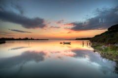 Laguna del belvedere Italia Imagen de archivo libre de regalías