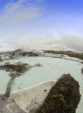 Laguna del blu dell'Islanda Fotografia Stock