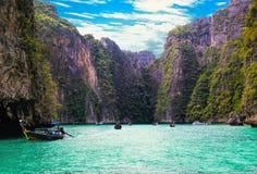 Laguna del blu di Pileh Fotografia Stock