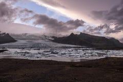 Laguna del ghiacciaio del ³ n del rlà del ¡ di Fjallsà fotografia stock libera da diritti