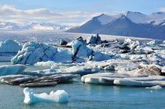 Laguna del ghiacciaio Fotografie Stock Libere da Diritti