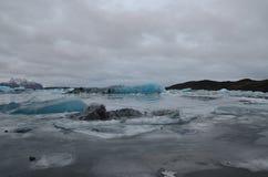 Laguna del ghiacciaio fotografia stock