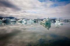 Laguna del ghiacciaio del ³ N del rlà del ¡ di Jökulsà Fotografia Stock Libera da Diritti