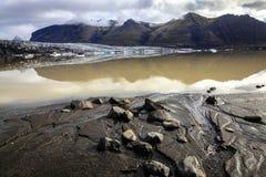 Laguna del ghiacciaio di Fjallsarlon Fotografia Stock Libera da Diritti