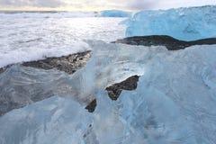 Laguna del ghiacciaio di Jokulsarlon, Islanda immagini stock