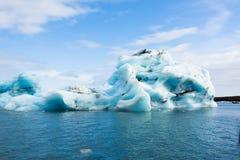 Laguna del ghiacciaio di Jokulsarlon in Islanda Fotografia Stock