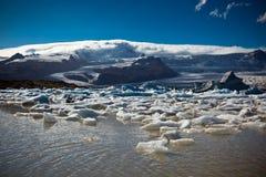Laguna del ghiacciaio di Jokulsarlon nel parco nazionale di Vatnajokull, Islanda Fotografia Stock Libera da Diritti