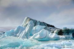 Laguna del glaciar foto de archivo