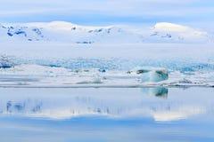 Laguna del glaciar Imágenes de archivo libres de regalías