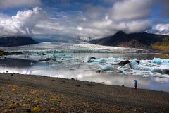 Laguna del glaciar de Breidarlon Imagen de archivo libre de regalías
