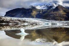 Laguna del glaciar de Fjallsarlon Foto de archivo libre de regalías