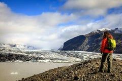 Laguna del glaciar de Fjallsarlon Imagen de archivo libre de regalías