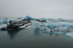 Laguna del glaciar, Jokulsarlon, Islandia Foto de archivo