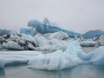 Laguna del glaciar, Jokulsarlon, Islandia Imagen de archivo