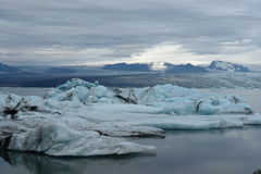 Laguna del glaciar, Jokulsarlon, Islandia Imagenes de archivo
