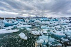 Laguna del hielo en Islandia Fotos de archivo