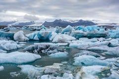Laguna del hielo en Islandia Imagenes de archivo