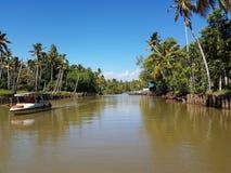 Laguna del Kerala Fotografie Stock