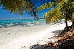 Laguna del mare caraibico Immagine Stock