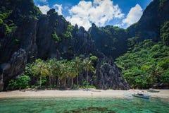 Laguna del secreto de Palawan Fotos de archivo libres de regalías