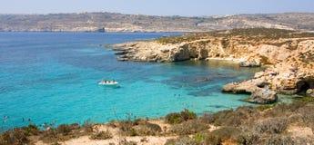 Laguna dell'azzurro di Malta Fotografie Stock