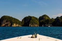 Laguna dell'isola all'oceano, Tailandia Fotografia Stock