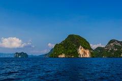 Laguna dell'isola all'oceano, Tailandia Fotografia Stock Libera da Diritti