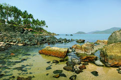 Laguna della spiaggia di Palolem, Goa Immagine Stock Libera da Diritti