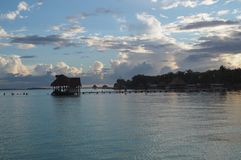 Laguna di Bacalar immagini stock
