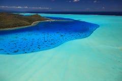 Laguna di Bora Bora Fotografia Stock