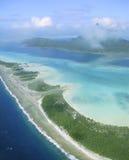 Laguna di Bora Bora Fotografia Stock Libera da Diritti
