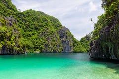 Laguna di EL Nido, Filippine Immagini Stock