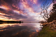 Laguna di Lor Fotografia Stock