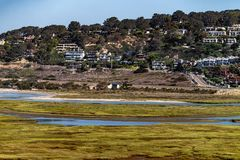 Laguna di Los Penasquitos vicino a Torrey Pines State Park, California immagini stock