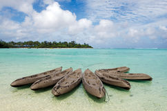 Laguna di Muri nel cuoco Islands di Rarotonga Immagini Stock Libere da Diritti