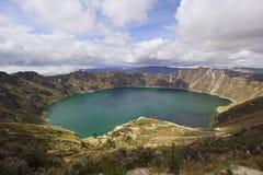 Laguna di Quilotoa, Ecuador, altopiani andini Fotografie Stock Libere da Diritti